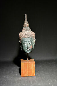Vintage Thai Resin Reprouction Of Buddha Head 13 Inches Tall