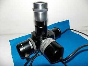 Vintage Wild Heerbrugg Microscope Photo Attachment Tube 2355 Exakta 4pin Connect