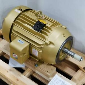 Baldor 20 Hp 1800 Rpm Tefc 208 230 460 Volts 256jm Footless 3 Phase Motor D956d