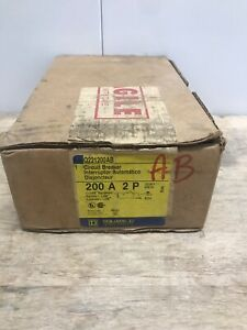 Square D Q2 Q221200ab 2 Pole 200 Amp 120 240v Circuit Breaker New In Box