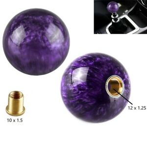 Purple Pearl Ball Shift Knob 54mm For Short Throw Gear Shifter Selector 10x1 5