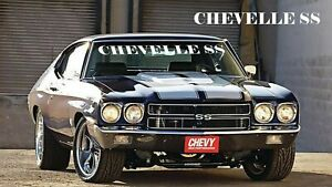 Chevrolet Chevelle Ss Windshield Decal New Custom 1pc Oracle