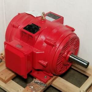 Lincoln 40 Hp 1800 Rpm Odp 230 460 Volts 324t Fire Pump 3 Phase Motor Lm80265