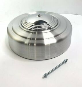 Round 4 Bbl Air Cleaner Orbit Style Polished Cast Spun Aluminum Show Quality
