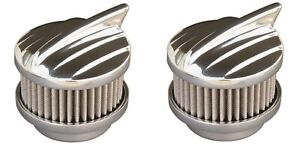 Pair Polished Aero 2 Barrel Air Cleaners Show Quality 94 97