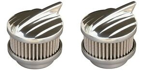 Pair Polished Aero 2 Barrel Air Cleaners Show Quality 94 97 98 Carbs