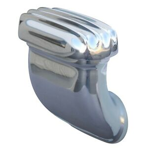 Finned Valve Cover Breather Side Angled Style Cast Polished Aluminum