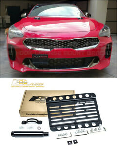 Eos For 18 Up Kia Stinger Front Tow Hook License Plate Mount Bracket Adapter