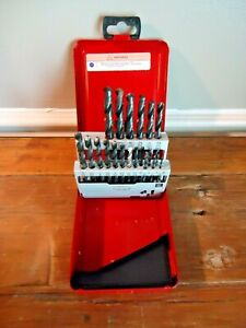 Snap On Db121c Jobber Length High Speed Steel Drill Bit Set 20 Bits In Case