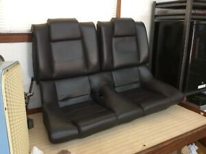 2005 2009 Ford Mustang Coupe Leather Rear Seat Covers Black Oem 05 06 07 08 09
