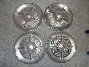 1965 Ford Galaxie Ltd Xl 4 Bar Spinner Hubcaps 15 Wheel Covers Set Of 4