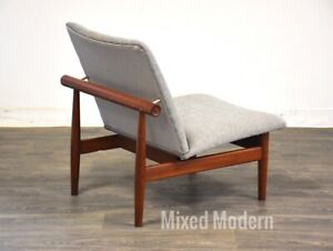 Finn Juhl Japan Grey Danish Teak Lounge Chair France And Son