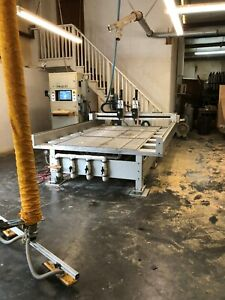 Cnt Motion 900 With Dual 7 5 Hp Spindles Cnc Router 20hp Vacuum Pump With Extras