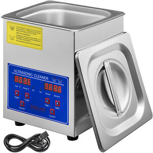 1 3l Ultrasonic Cleaner Stainless Steel Industry With Timer For Jewelry Glasses