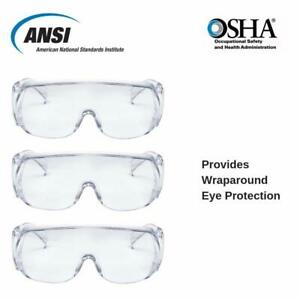Amston Safety Glasses Work Eyewear Protection Clear Lens Ansi Z87 Multi Qty