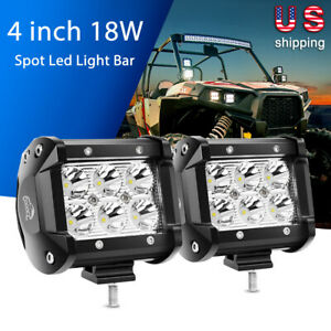 Gooacc 2pcs 4 Inch Led Light Bar Spot Driving Fog Lights Fit For Atv Offroad