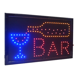 21 5 x13 Large High Visible Led Light Business Open Sign With Chain On off Bar