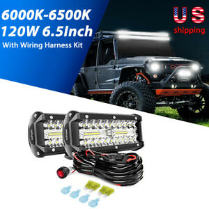 Nilight 2pcs 6 5inch Led Lights Spot Flood Combo Driving Lamp For Jeep Fog Light