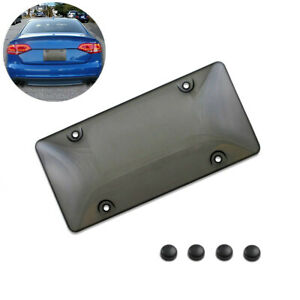 Car Auto Plastic Tinted License Plate Cover Smoked Bubble Shield Tag Accessories