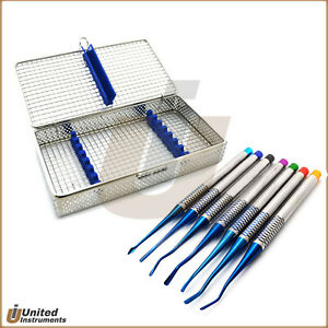 Veterinary Dental Pdl Luxating Periotome Elevators Serrated With Mesh Cassette