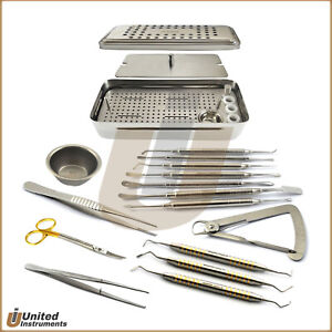 Periodotal Surgical Prf Box Mambrane Tools Kit Clipper Shear Periosteal Elevator