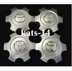 4pcs 1pc 03 06 Tundra 03 07 Sequoia Wheel Center Caps Hubcaps Bright Silver