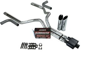 Dodge Ram 1500 09 18 3 Dual Exhaust Kits Flowmaster Super 10 Slash Tip Side Ex