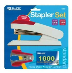 Comfort Grip Desktop Standard Stapler Set With Staples Remover And 1000 Staples