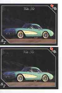1957 Corvette Fuel Injection Baseball Card Sized Cards Lot Of 2 Must See
