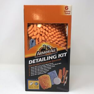 Armor All 6 Piece Detailing Microfiber Car Cleaning Kit