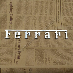 Ferrari Rear Badge Emblem Chrome Silver 1pc New Fits Many