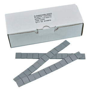 1 4 Oz 0 25 Ounce Grey Adhesive Tape Stick On Tire Wheel Balance Weights 624pcs
