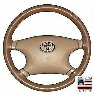 Leather Oak C Steering Wheel Cover For Ford Chevy Other Makes