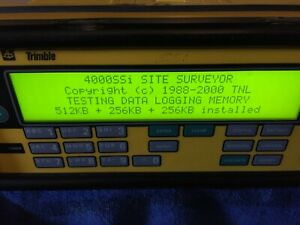 Trimble 4000 Ssi Gps Receiver Cables And Trimble Micro Centered Antenna Used