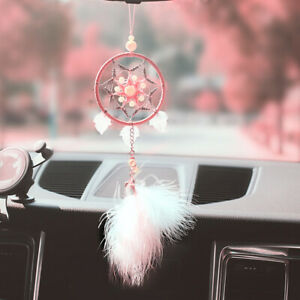 1pc Auto Rear View Feather Star Mirror Decoration Car Hanging Pendant Ornament