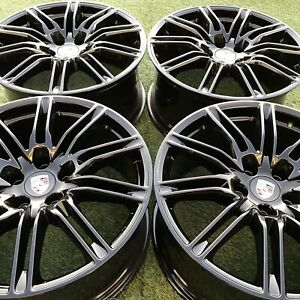 21 Porsche Cayenne Gts Rims Oem Genuine Factory Set Black Bbs Stock