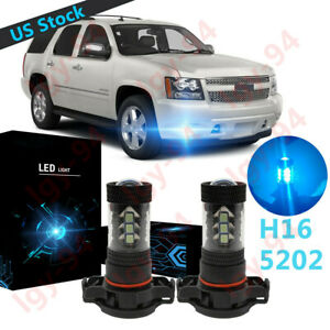 5202 Ice Blue Led Fog Lights Driving Bulbs For Chevy Tahoe 2007 2008 2009 2015