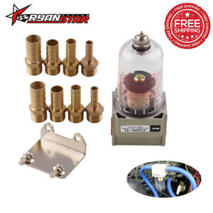 Oil Water Separator Catch Can Air Filter Engine With 4 Adapter For Ford Honda