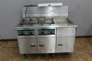 Pitco Sg14 js Natural Gas Double Deep Fryer With Filtration