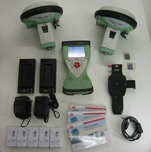 Leica Gs15 Gps Gnss Rtk Base And Rover Kit W Cs15 Field Controller 1m Warranty