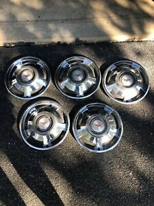 Vintage 5 Chevrolet Corvair Monza Hub Caps Wheel Covers Gm 13 3861087 Chevy