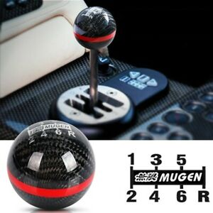 Mugen Real Carbon Fiber Shift Knob 6 Speed For All Honda Acura W M10x1 5 Adapter