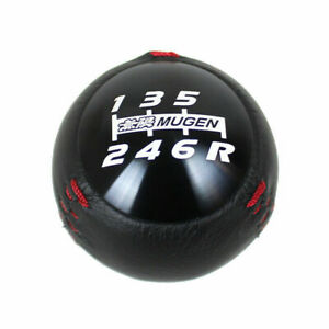 Jdm Mugen Leather Shift Knob 6 Speed For Honda Crz Type R Civic Fa5 Fg2 Si Black
