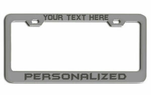Laser Engraved Gift License Plate Frame Your Customize Text Custom Tag Holder