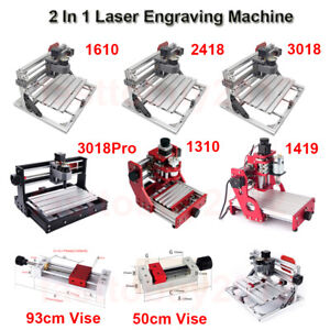 2 In 1 Laser Engraving Machine Caving Engraver 5500mw Laser Head Vise Clamp