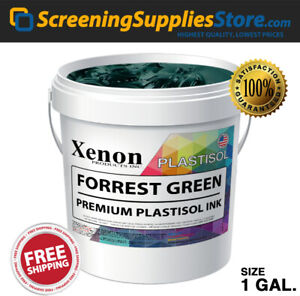 Xenon Forrest Green Plastisol Ink For Silk Screen Printing 1 Gallon 128oz