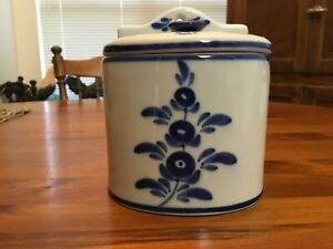 Vintage Hand Painted Salt Box Made In Portugal