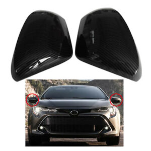 For 2019 Toyota Corolla Hatchback Carbon Fiber Style Side Rearview Mirror Cover