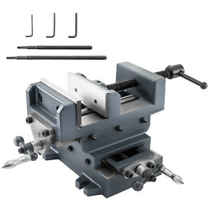 6 1 8 Compound Cross Slide Vise Strength Benchtop Vise Leadscrew 2 Way