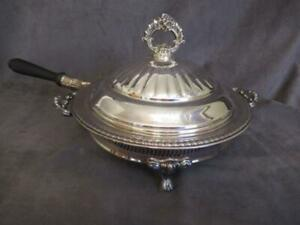 Fb Rogers Silverplate Chafing Dish In Stand Horse Show Prize Rp